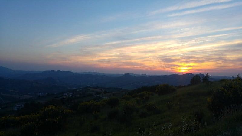 HorSa do Ríma - západ slnka v Taliansku