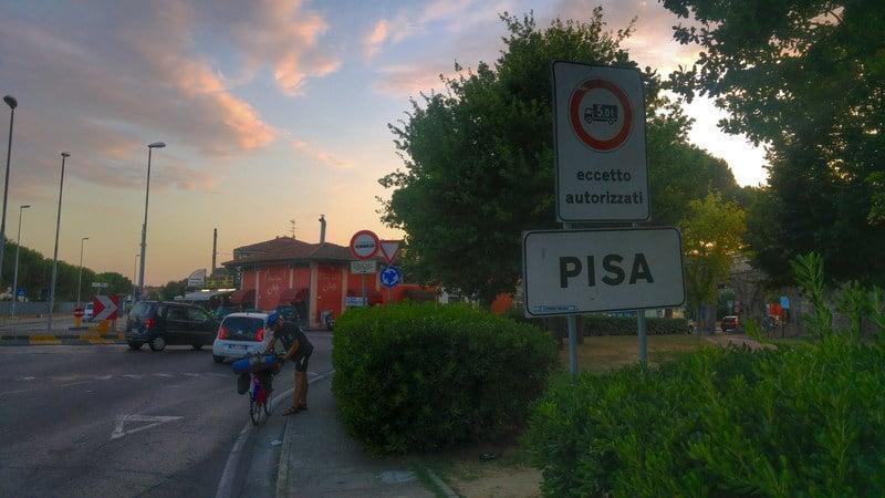 Na bicykloch z Bratislavy do Ríma - zastávka v Pise