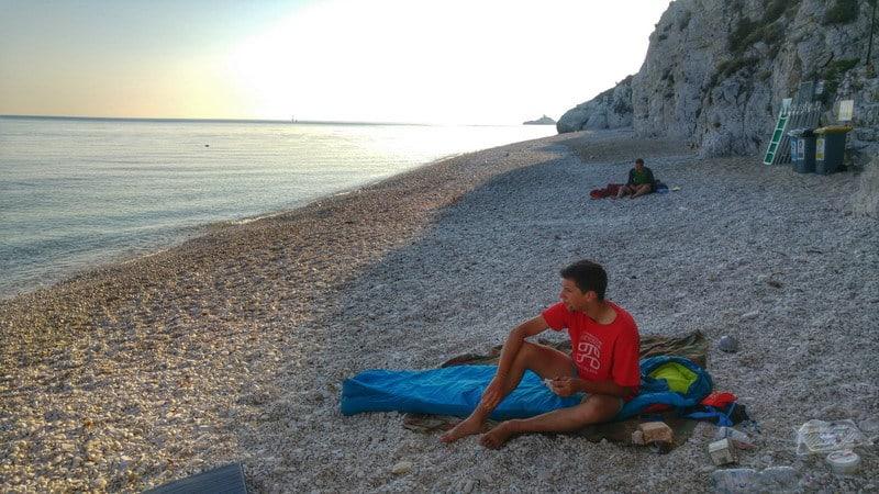 Bratislava - Rím na bicykloch, spánok na pláži