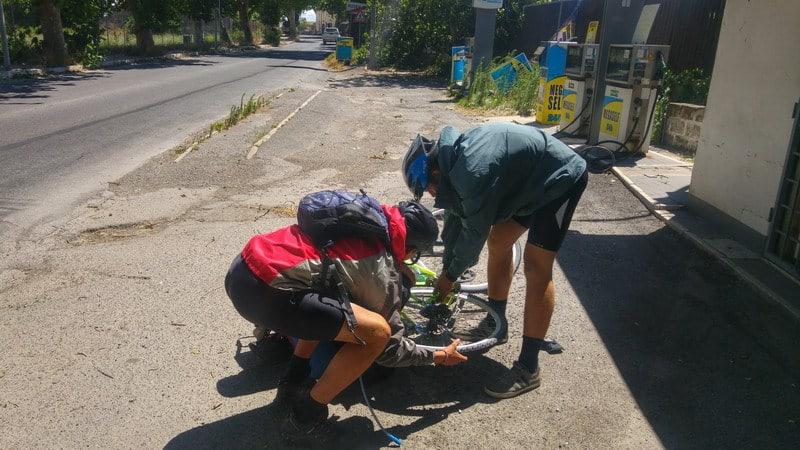 HorSa do Ríma, oprava bicykla