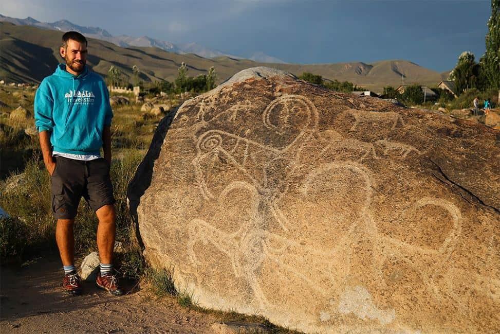 Kirgizsko - petroglyfy