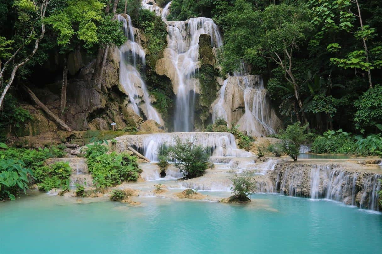 Laos - vodopád Kuang si