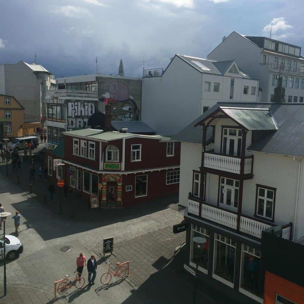 Domy v centre mesta na Islande