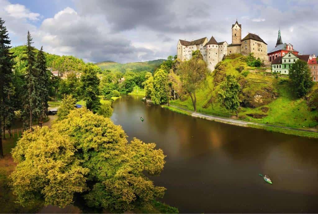 Hrad Loket - najkrajšie miesta v Čechách