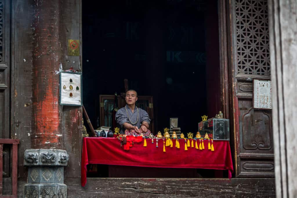 Šaolínsky mních v Číne