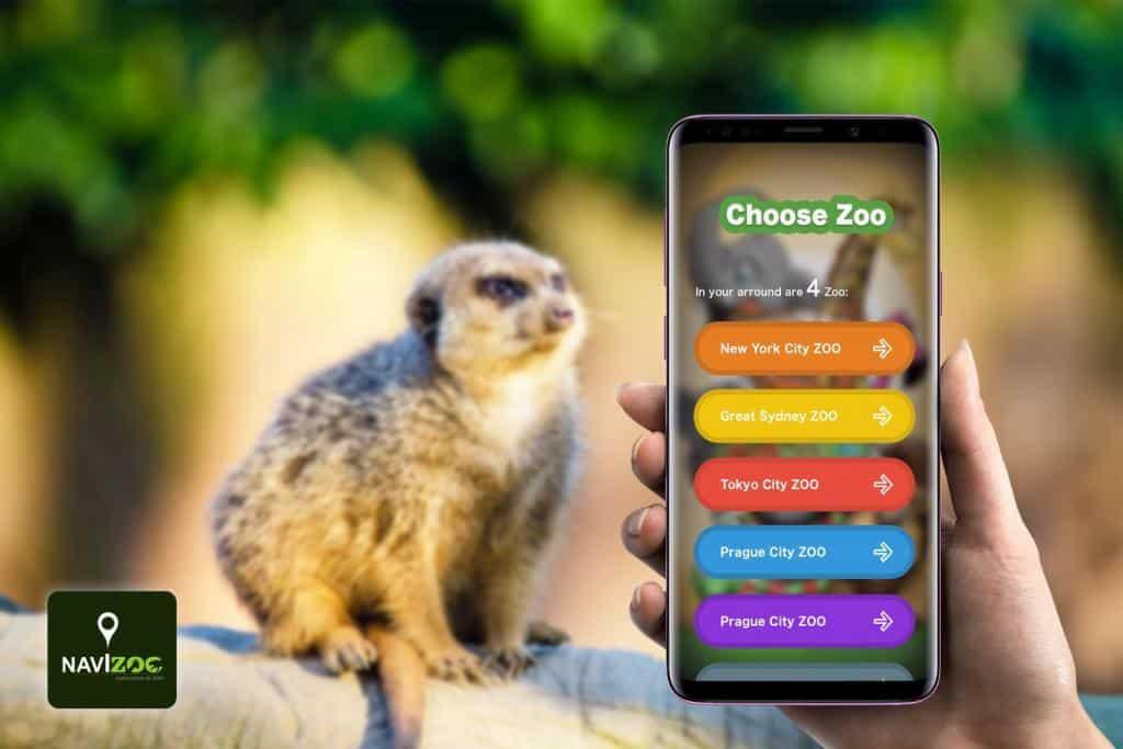 Náhľad navigácie aplikácie Navizoo