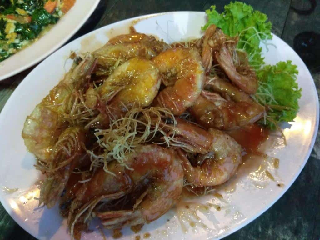 Morské plody na obed v Thajsku