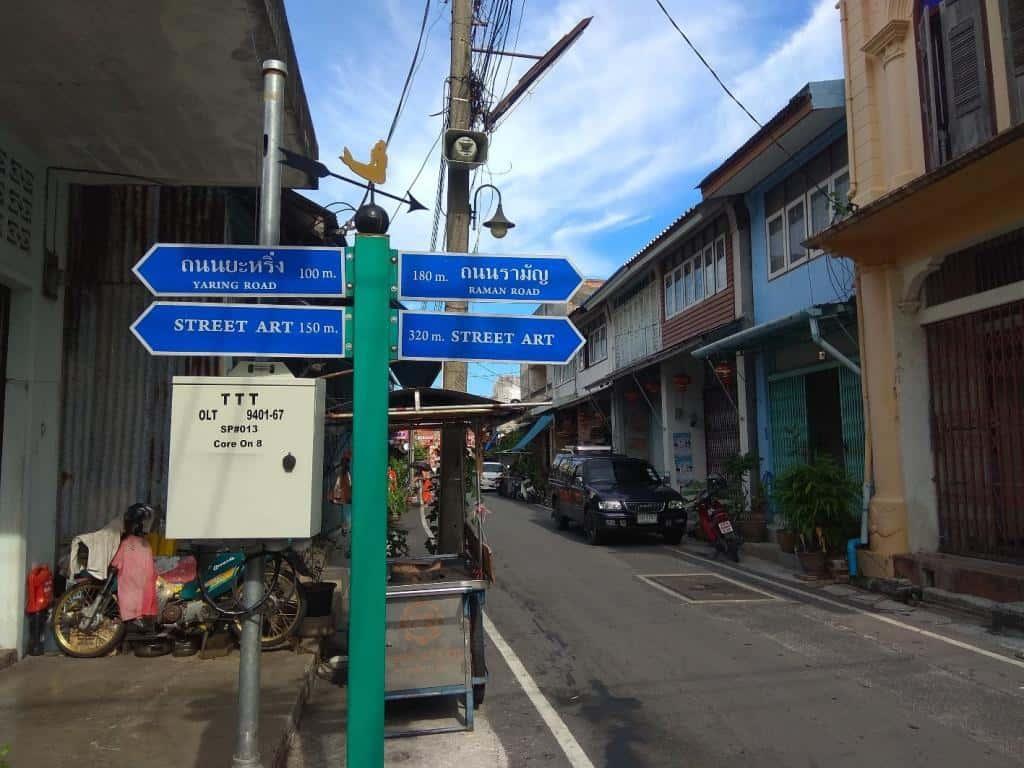 Ulica Street Art v Songkhle, Thajsko