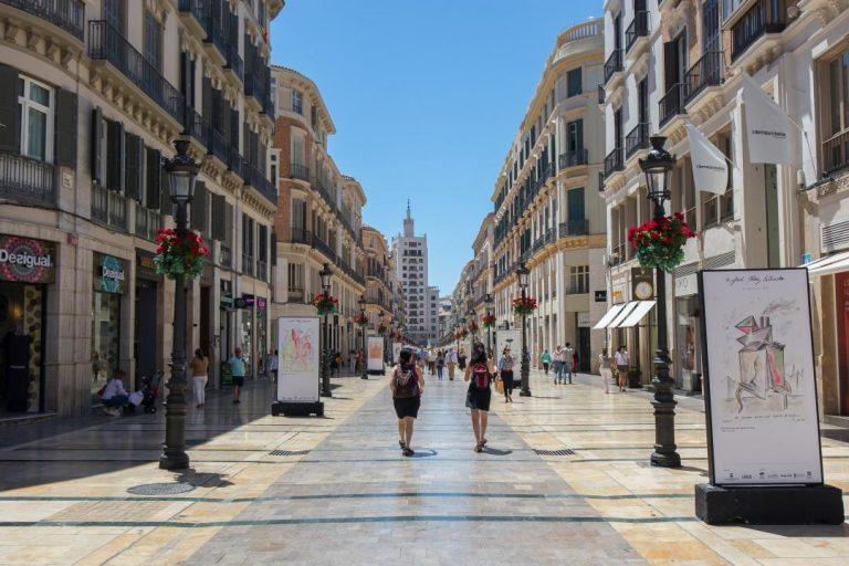 Málaga, Andalúzia - pešia zóna v centre mesta