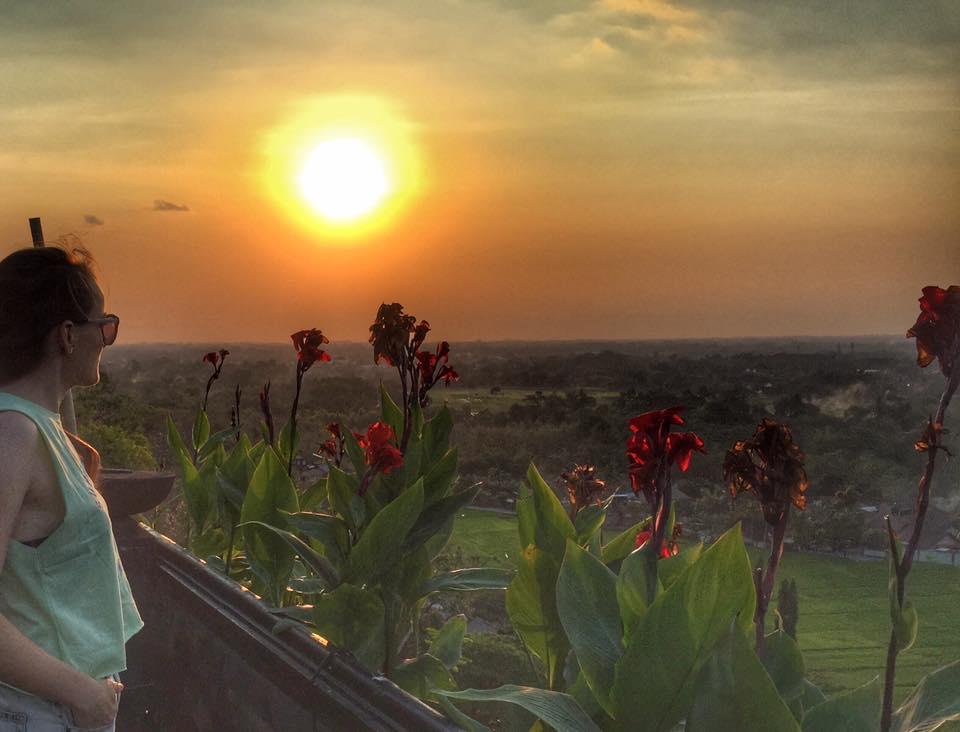 Krásny západ slnka v Indonézii