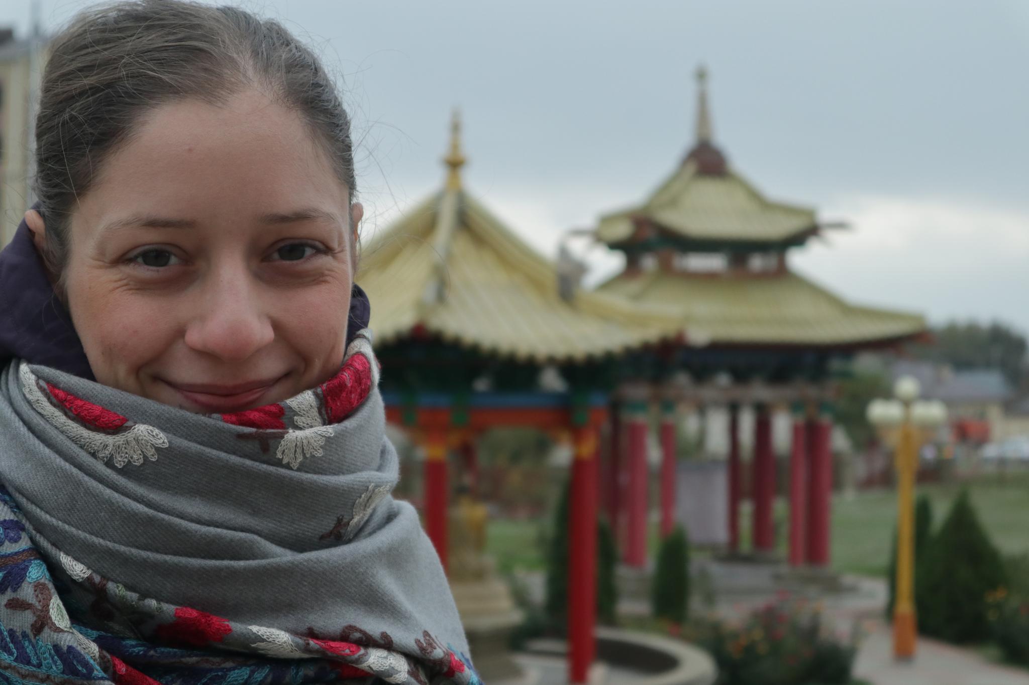 cestovateľka v mesta Elista, Rusko