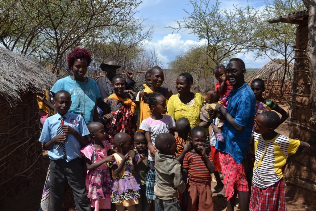 Černošská rodina v Keni