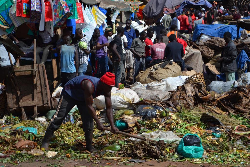Miestny trh v Kampale