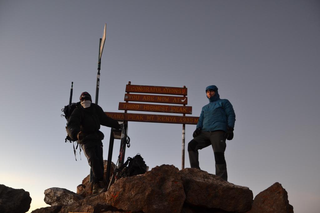 Stanislav Kaľavský - S Cyrusom na Lenana Peak